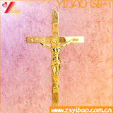 Croix catholique antique/rétro décoration d'église/à la maison, crucifix debout en métal religieux portable