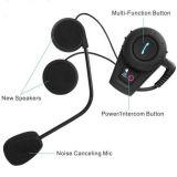 Intercom sans fil 500 mètres de casque d'écouteur imperméable à l'eau bidirectionnel simultané de Bluetooth