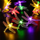 6m stringa solare di natale dei 30 LED illuminano una libellula di 8 modi