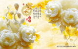 La fortune de fleur de ressort de bonne chance vient avec les fleurs de floraison ridant le numéro en carton ondulé imperméable à l'eau matériel de modèle : Wl-003