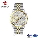 習慣贅沢なすべてのステンレス鋼の黒人男性の腕時計