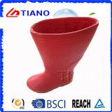 Nouvelle botte en PVC à imperméable rouge pour Lady (TNK60031)