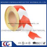 Belüftung-Qualitäts-weißer u. roter warnender Pfeil-reflektierendes Band (C3500-AW)