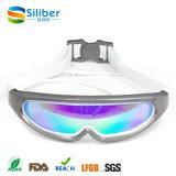 Formar a nenhuma anti névoa de escape óculos de proteção UV da natação da proteção