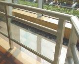 Balustrade et balcon en verre clairs en aluminium avec la hauteur de 1.2m