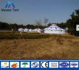 Barraca Mongolian de acampamento ao ar livre do partido de Yurt do telhado luxuoso