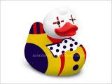 Jouet de canard de poupée de Noël de vinyle