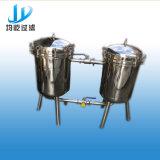 Filtro a sacco duplex sanitario Ss304 per latte