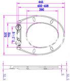 Weicher naher flacher Entwurfs-erwachsener Toiletten-Sitz mit einem Tasten-Stoß