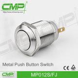 12mm em desligamento Botão de botão momentâneo com lâmpada de anel