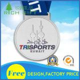 2D/3Dカスタム金属か実行またはスポーツまたは金またはマラソンまたは賞または記念品メダル
