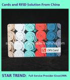 Tarjeta del regalo de la corte de alimento con la tarjeta del PVC de la raya magnética