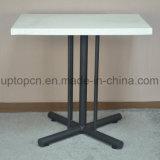 Tabela da mobília do restaurante com pé longitudinal especial do ferro de molde das listras (SP-RT480)