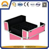 Caixa de alumínio da caixa quente do trole da beleza das senhoras do produto novo da venda para as artes do prego & o perfume (HB-6340)