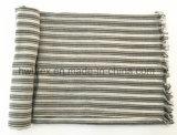 Kundenspezifische vertikaler Streifen-gesponnene Baumwollstola/-Pareo/-schal (HWBC101)