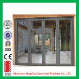 Puerta de plegamiento de aluminio de la puerta de plegamiento del balcón y del patio