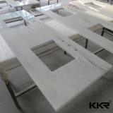 Partie supérieure du comptoir extérieure solide de quartz de cuisine de vanité de salle de bains