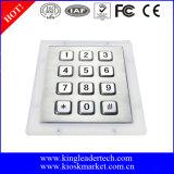 clés du clavier numérique 12 d'acier inoxydable en métal de la matrice 3X4
