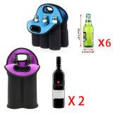 Неопрен Insluated цвета смешивания может разлить более холодный/изолированный мешок по бутылкам Tote несущей вина неопрена + вода пива 6 пакетов может мешок охладителя младенца держателя бутылки Tote несущей