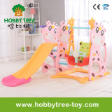 2017 Deer Style Hot Selling Plastic Kids Slide met Swing (HBS17006D)