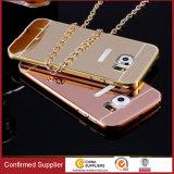 Cassa Bumper del telefono mobile dello specchio del blocco per grafici del metallo di alluminio per Samsungs8