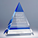 Fabrik-direkte Qualitäts-Kristallpyramide-Trophäe für Geschenk