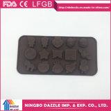 Molde do chocolate do silicone do produto comestível das formas do FDA vário