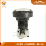 Commutateur micro Pbs-004 du blanc DEL de bouton poussoir électrique du plastique 46mm