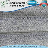 Il tessuto a spugna Francese del cotone ha lavorato a maglia con colore blu-chiaro