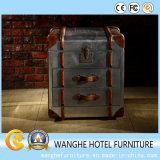 Tabella laterale quadrata di cuoio del Brown della mobilia domestica con memoria