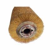 Balais de fil d'acier spiralés mécaniques de rouleau