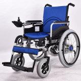 ページのコントローラが付いている電動車椅子