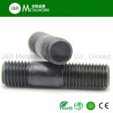 Boulon galvanisé de goujon d'amorçage d'extrémité de noir d'acier du carbone double