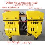 550W kleiner ruhiger leiser Oilless Luftverdichter-Kopf