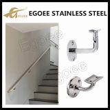 304のステンレス鋼調節可能な取付けられた階段柵の手すりブラケット