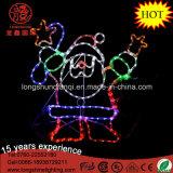 Xmas 훈장을%s LED 90cm 실루엣 춤 산타클로스 밧줄 주제 빛 크리스마스 불빛