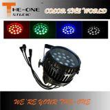 18PCS * 10W al aire libre impermeable LED Zoom PAR puede