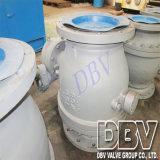 벨브 산업 2개 피스 Wcb Wormgear 플랜지 공