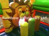 Het opblaasbare Kasteel van de Uitsmijter van de Leeuw/Opblaasbare Dierlijke Combo/Springende Uitsmijter voor Verkoop