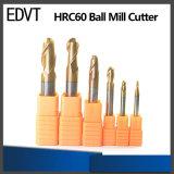 Стан шарика стали вольфрама режущего инструмента 60HRC 2flute Edvt для CNC