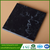 Lastra di sguardo di marmo nera del quarzo per il controsoffitto della cucina