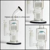 11 pulgadas 20 tubos de agua de cristal de Toro de los brazos para fumar con 2 Percs