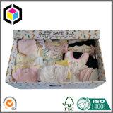 Rectángulo seguro del sueño de la tapa del OEM de color del bebé acanalado desmontable de la impresión