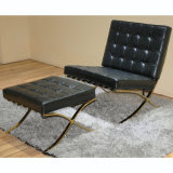居間の現代ホーム黒い余暇の家具のバルセロナの椅子