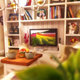 casa de muñeca de madera del rompecabezas 3D