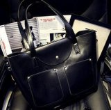 Sacchetto di Tote di cuoio della signora Clutches Composite Casual dell'unità di elaborazione della borsa famosa di marca (BDMC105)