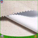 Matéria têxtil Home tela de linho tecida do poliéster que reveste a flama impermeável - tela retardadora da cortina do escurecimento