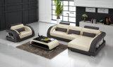 Strati contemporanei del salone con il sofà sezionale più la singola presidenza