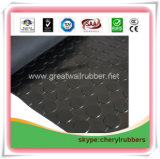 Gleitschutzgummibodenbelag, Gleitschutzgummiblatt-Gleitschutzgummimatte mit ISO9001