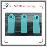 52*18mm TPU物質的なレーザー番号印刷できるヒツジの耳札